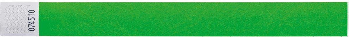 Orakel polsbandjes Tyvek, neon groen, pak van 100 stuks