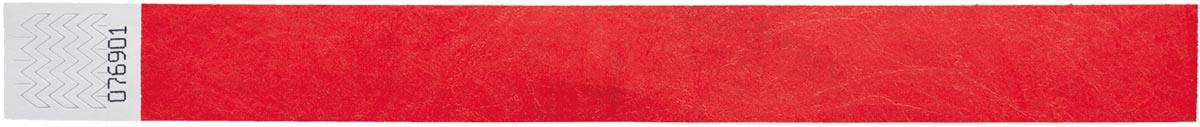 Orakel polsbandjes Tyvek, rood, pak van 100 stuks
