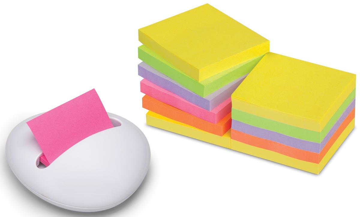 Post-it Z-Notes kei, wit, voor ft 76 x 76 mm, 12 blokken van 100 vel
