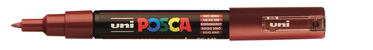 uni-ball Paint Marker op waterbasis Posca PC-1MC wijnrood