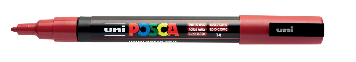 Posca paintmarker PC-3M donkerrood