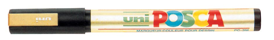 uni-ball Paint Marker op waterbasis Posca PC-5M goud