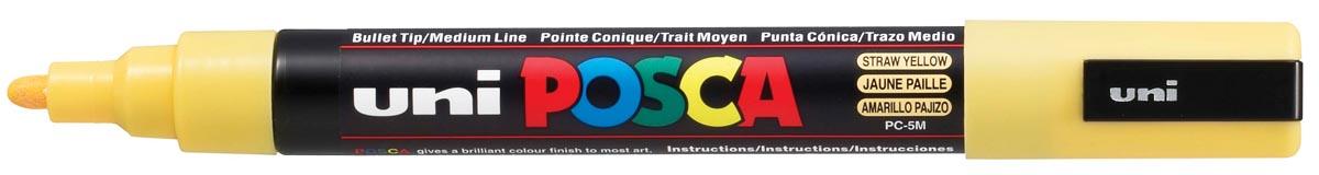 uni-ball Paint Marker op waterbasis Posca PC-5M strogeel