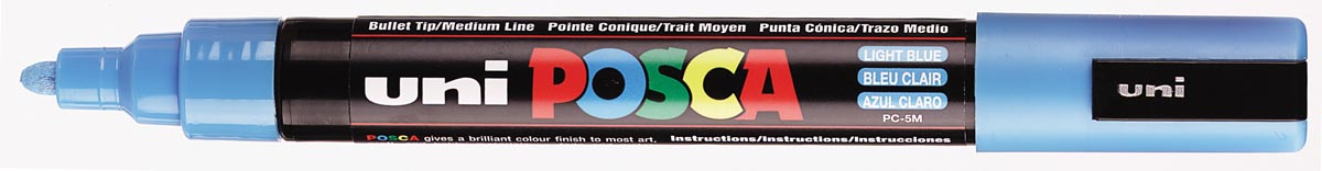 uni-ball Paint Marker op waterbasis Posca PC-5M lichtblauw