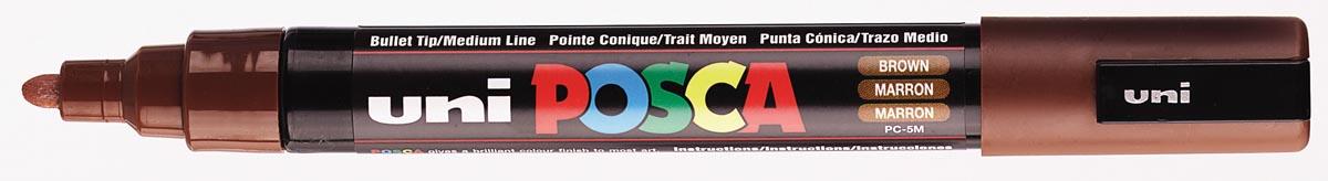 uni-ball Paint Marker op waterbasis Posca PC-5M bruin