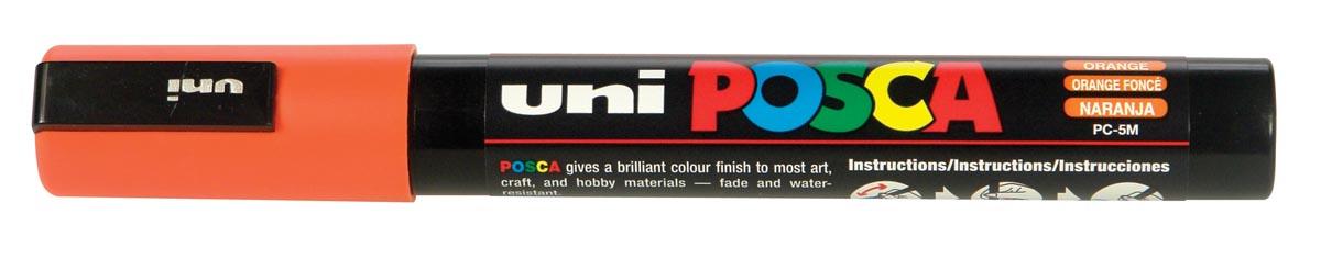uni-ball Paint Marker op waterbasis Posca PC-5M donkeroranje