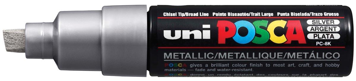 uni-ball Paint Marker op waterbasis Posca PC-8K zilver