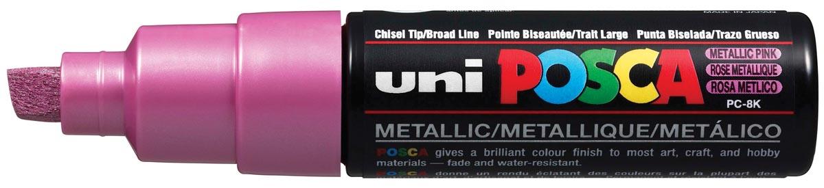 uni-ball Paint Marker op waterbasis Posca PC-8K roze metaal