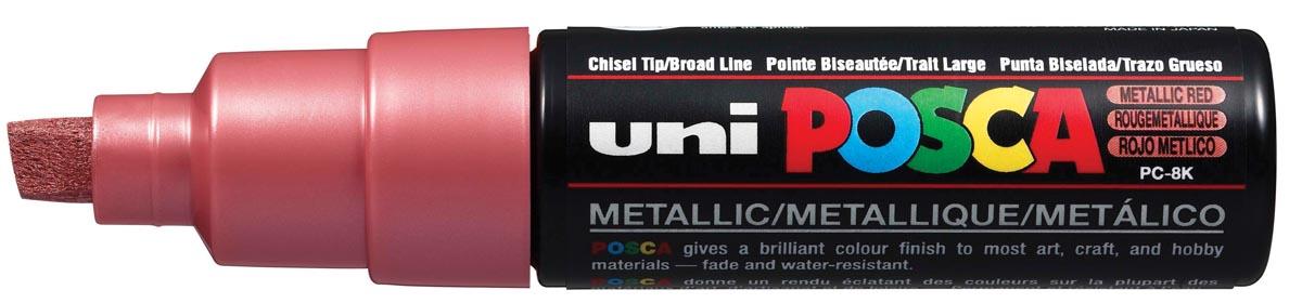 uni-ball Paint Marker op waterbasis Posca PC-8K rood metaal