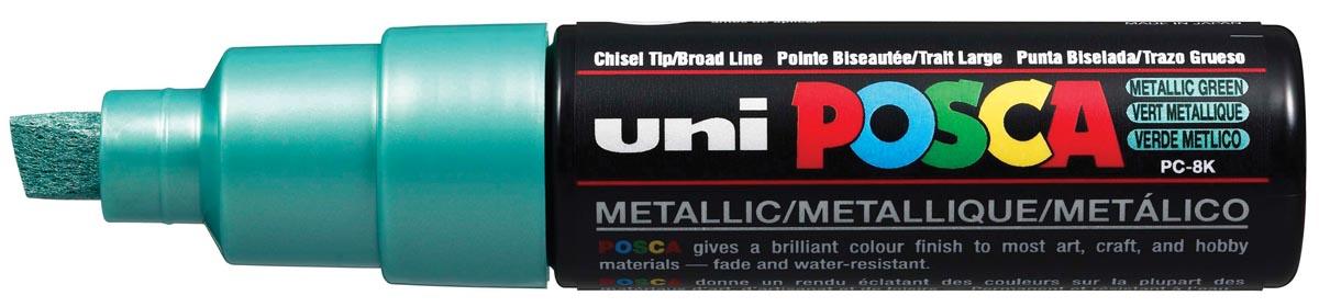 uni-ball Paint Marker op waterbasis Posca PC-8K groen metaal