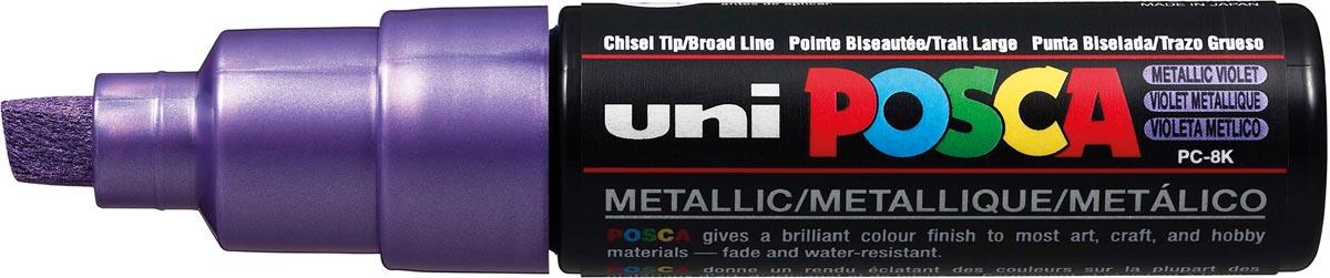 uni-ball Paint Marker op waterbasis Posca PC-8K paars metaal
