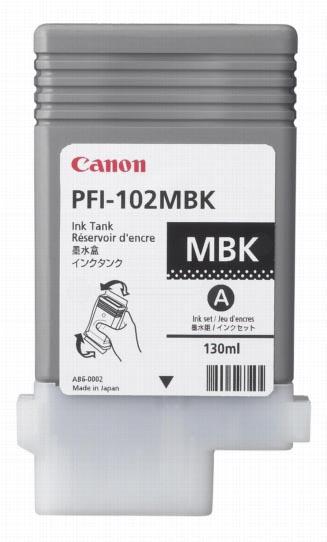 Canon inktcartridge PFI-102MBK, 130 ml, OEM 0894B001, mat zwart
