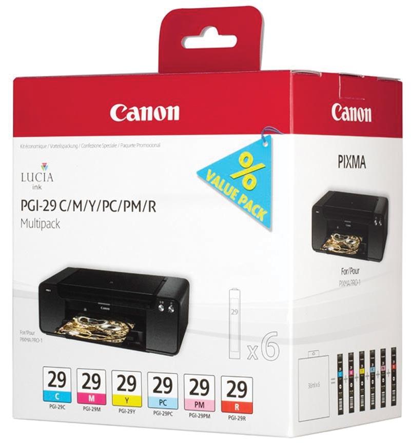 Canon inktcartridge PGI-29, 724 pagina's, OEM 4873B005, 6 kleuren