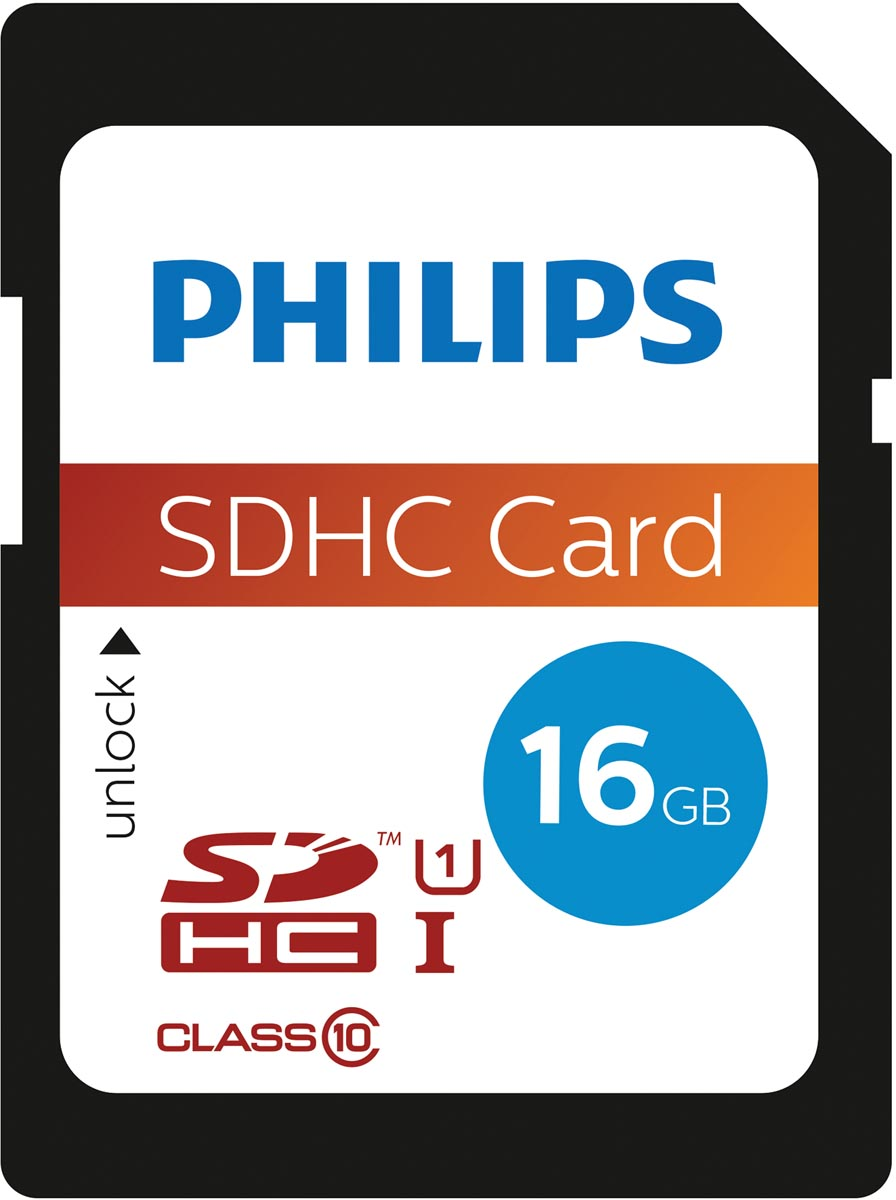 Philips SDHC geheugenkaart 16 gb