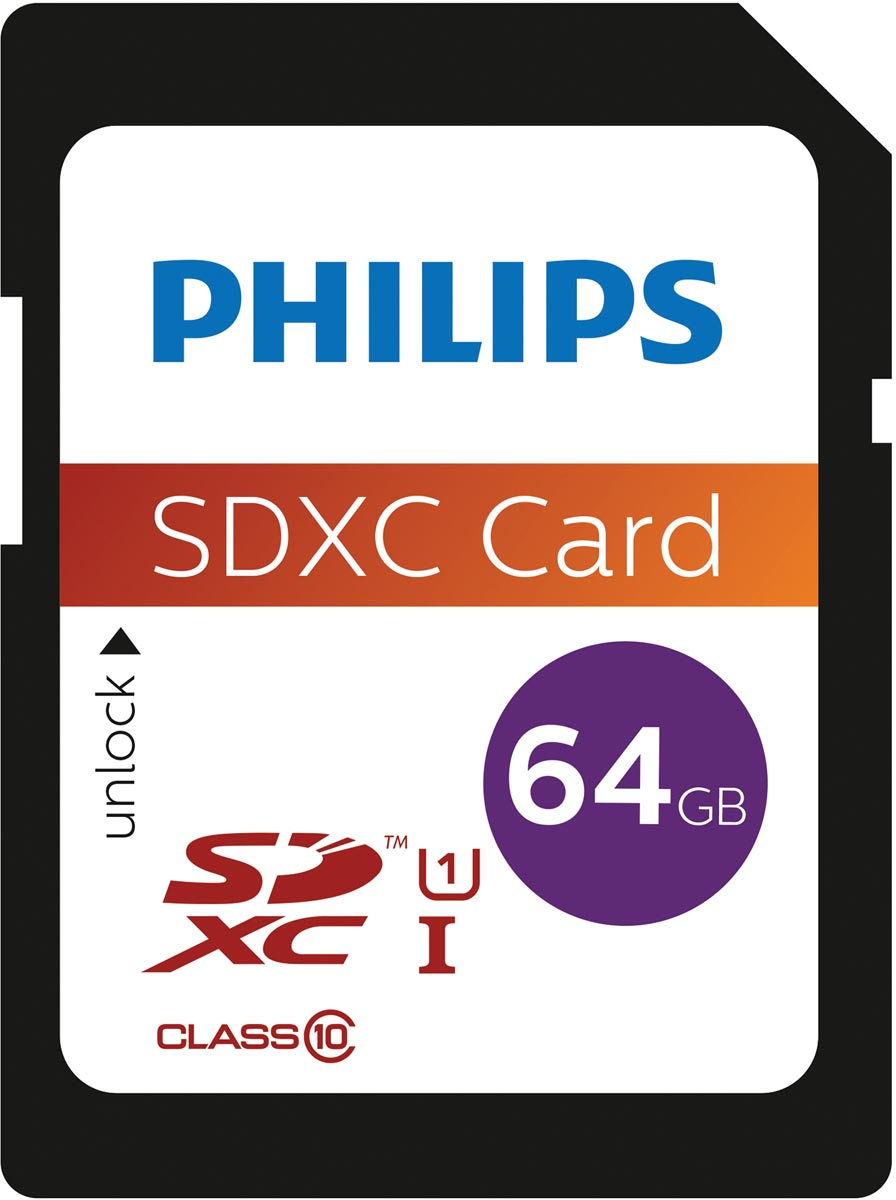 Philips sdxc card 64GB Class10