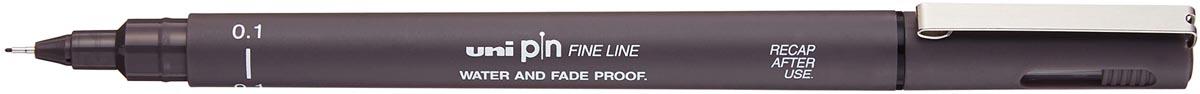 Uni Pin fineliner donkergrijs, 0,1 mm