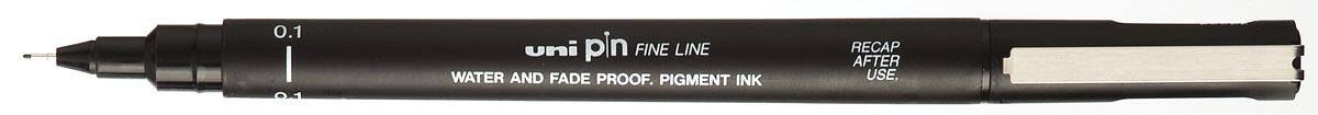 Uni-ball fineliner Pin, zwart, 0,1 mm