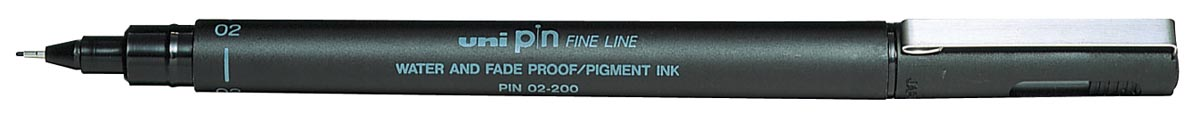Uni-ball fineliner Pin, zwart, 0,2 mm