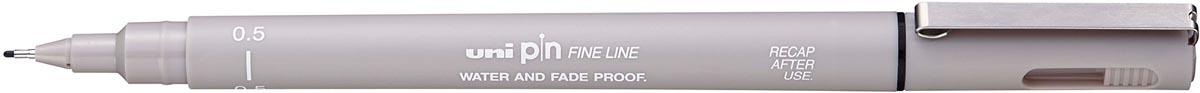 Uni Pin fineliner lichtgrijs, 0,5 mm