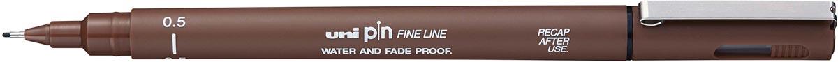 Uni Pin fineliner sepia, 0,5 mm