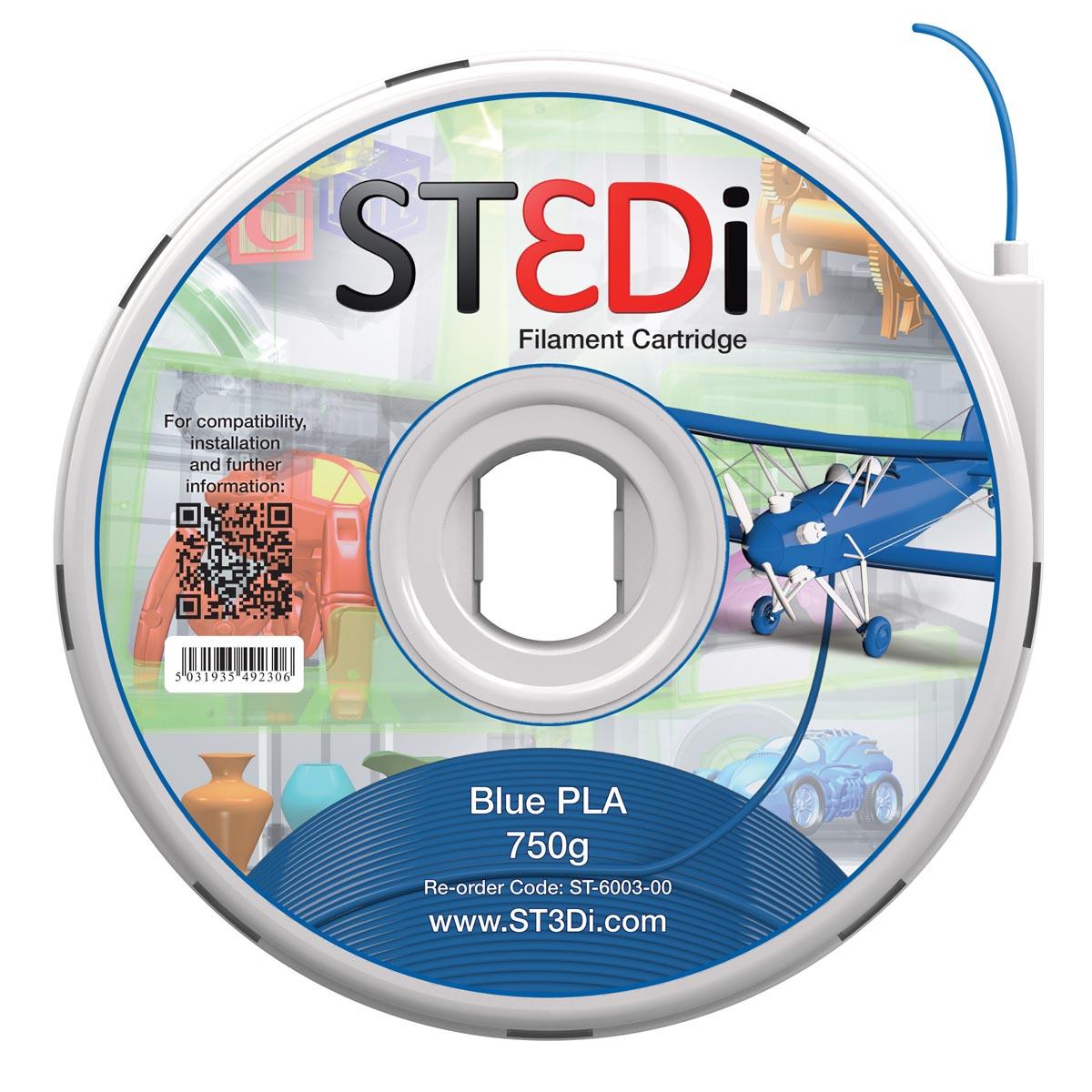 St3di cartridge pla 750g blauw voor st3di printer