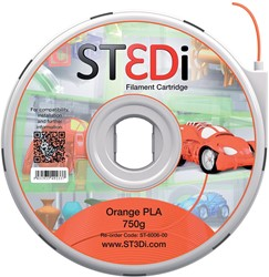 ST3Di 3D cartridge PLA 750G voor St3di printer, oranje