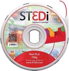 ST3Di 3D cartridge PLA 750G voor St3di printer, rood