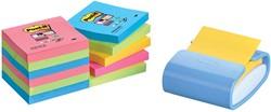 Post-it Z-Notes dispenser Pro Color hemelsblauw, voor ft 76 x 76 mm, 12 blokken van 90 vel