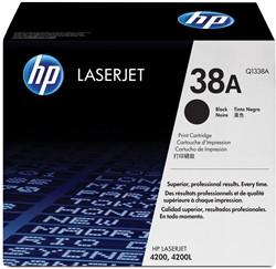HP Tonercartridge zwart 38A - 12000 pagina's - Q1338A
