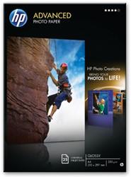 HP fotopapier Advanced Glossy ft A4, 250 g, pak van 25 vel