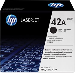 HP Tonercartridge zwart twin pack 42XD - 20000 pagina's - Q5942XD