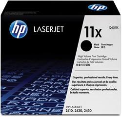 HP Tonercartridge zwart 11X - 12000 pagina's - Q6511X