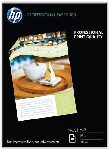 HP Professional fotopapier ft A4, 180 g, pak van 100 vel, mat