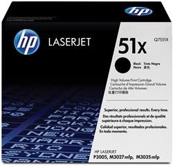 HP Tonercartridge zwart 51X - 13000 pagina's - Q7551X