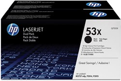HP Tonercartridge zwart twin pack 53XD - 7000 pagina's - Q7553XD