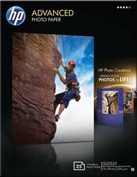 HP Advanced fotopapier ft 13 x 18 cm, 250 g, pak van 25 vel, glanzend