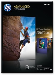 HP fotopapier Advanced Glossy ft A3, 250 g, pak van 20 vel