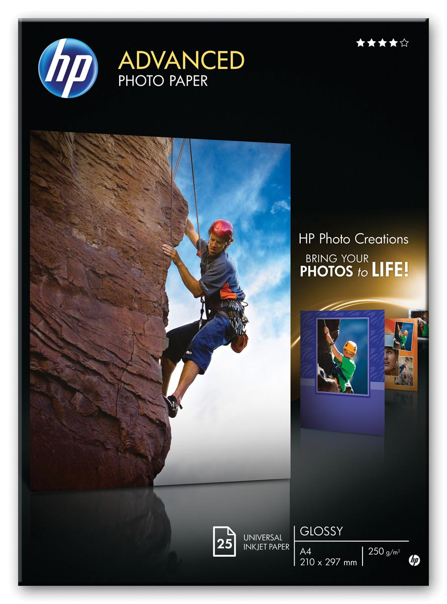 HP Advanced Glossy Photo Paper, 20 vel, A3-297 x 420 mm
