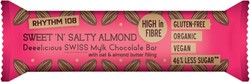 Rhythm 108 biologische chocoladereep Sweet 'n Salty Almond, pak van 15 stuks