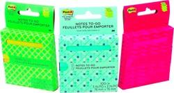 Post-it Z-Notes 'on the go', ft 76 x 76 mm, blister van 100 vel, geassorteerde kleuren