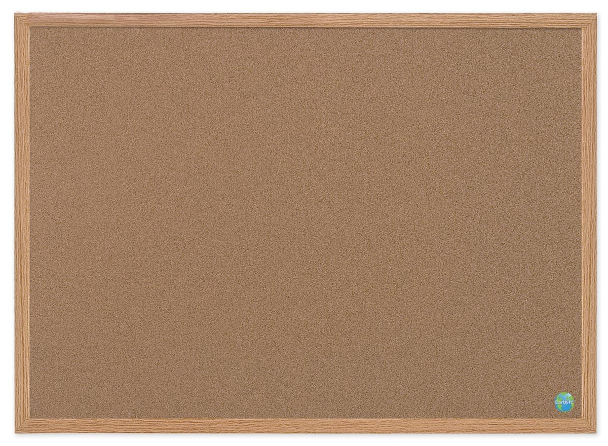 Bi-Silque Notitiebord Earth-it Bruin 90 x 60 cm