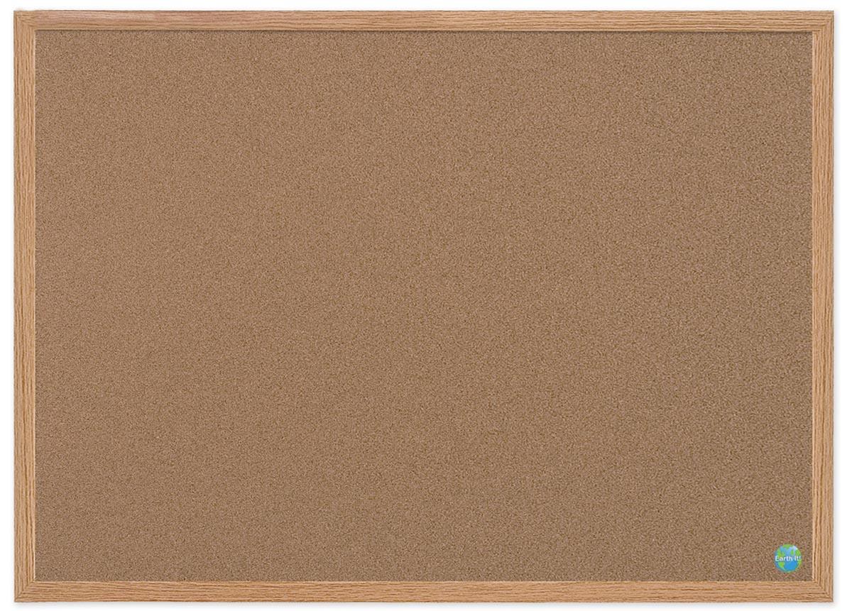 Bi-Silque Notitibord Earth-it Bruin 120 x 90 cm
