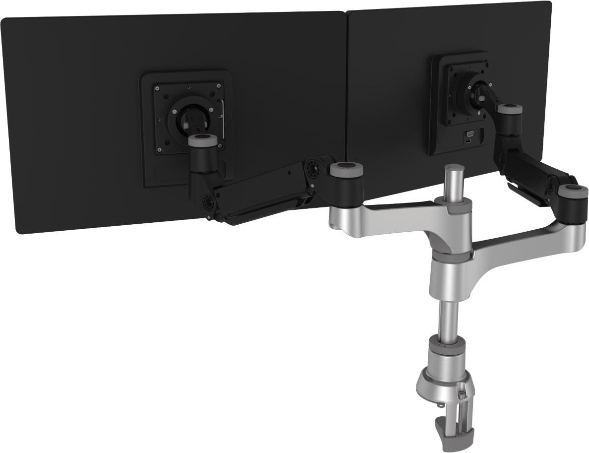 R-Go Caparo 4 monitorarm, twin, circulair