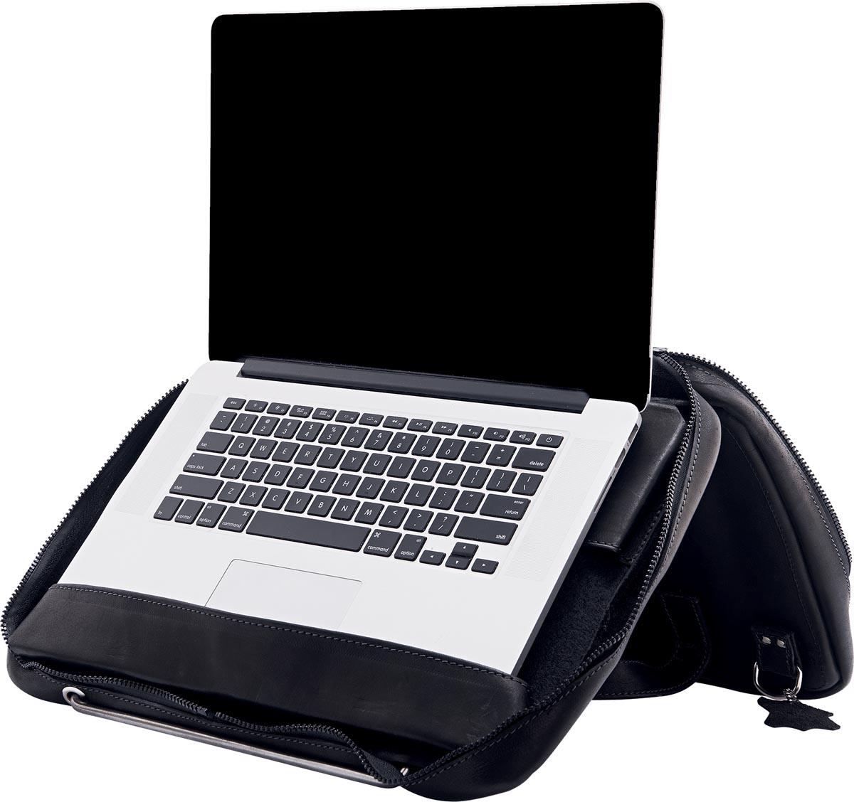 R-Go Viva laptoptas met geïntegreerde laptopstandaard, voor laptops tot 15,6 inch