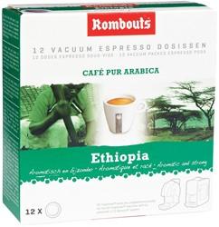 Rombouts koffiepads voor espresso, Mokka Sidamo d'Ethiopie, pak van 12 stuks