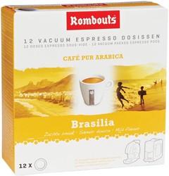 Rombouts koffiepads voor espresso, Brésil sul de Minas, pak van 12 stuks