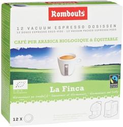 Rombouts koffiepads voor espresso, La Finca, pak van 12 stuks