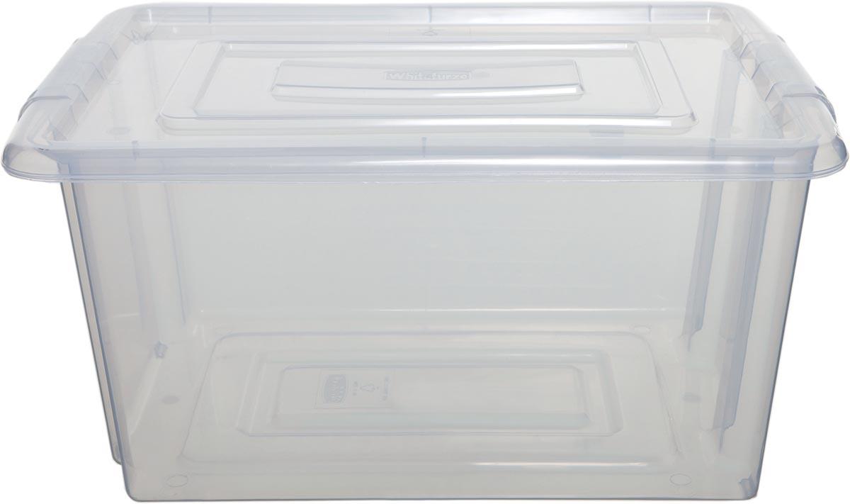 Whitefurze Stack & Store Small opbergdoos 14 liter zonder deksel, transparant