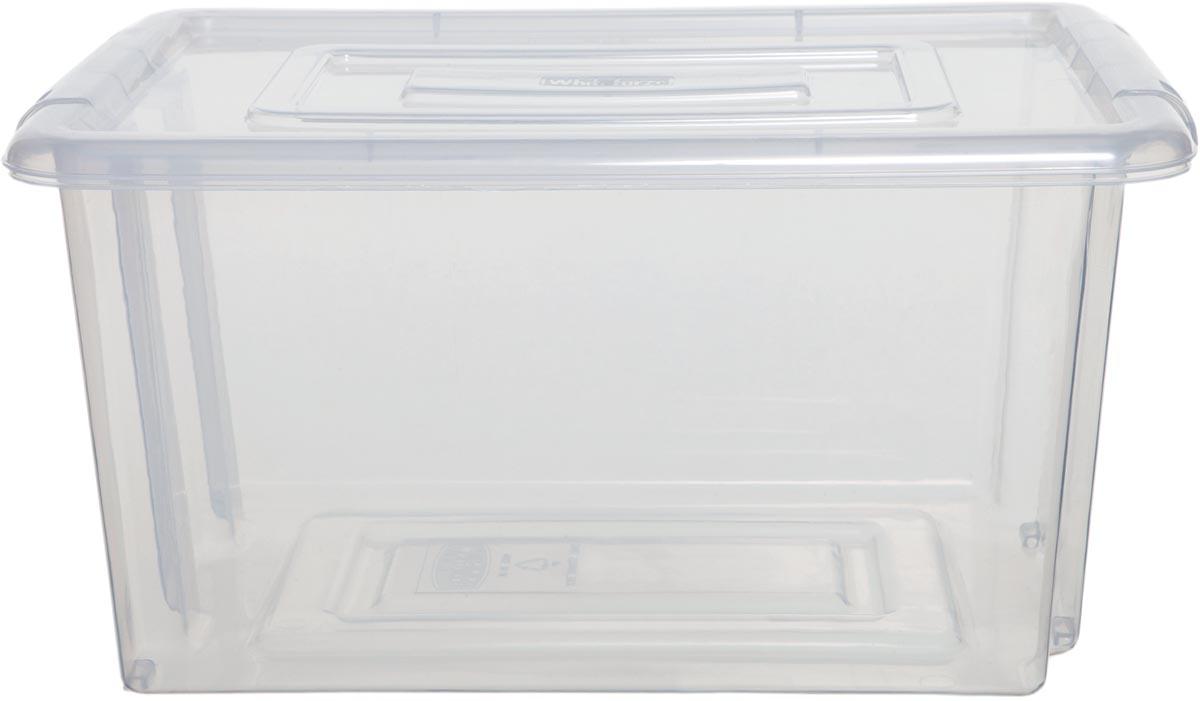 Whitefurze Stack & Store Mini opbergdoos 5 liter zonder deksel, transparant