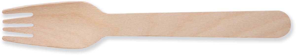 Vork uit hout, gecoat, 160 mm, pak van 100 stuks